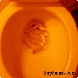 Orange Cigarette Toilet