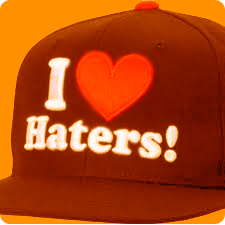 An I Heart Haters Hat
